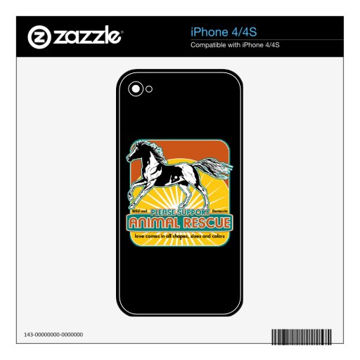 Animal Rescue Horse Decals For The iPhone 4