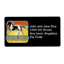 Animal Rescue Horse Label