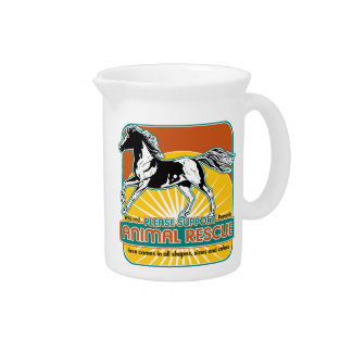Animal Rescue Horse Drink Pitcher