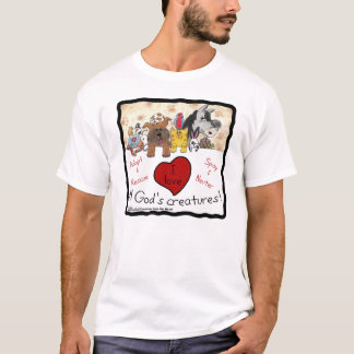 Animal Rescue-I love All God's Creatures T-Shirt