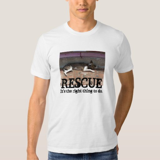 ANIMAL RESCUE: IT'S THE RIGHT THING TO DO T SHIRT