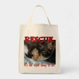 ANIMAL RESCUE: IT'S THE RIGHT THING TO DO tote Tote Bags
