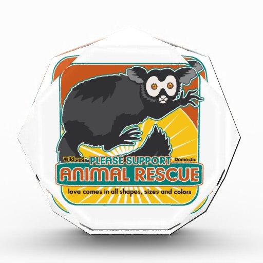 Animal Rescue Lemur Acrylic Award