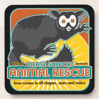 Animal Rescue Lemur Drink Coaster
