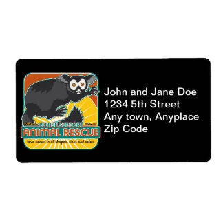 Animal Rescue Lemur Label