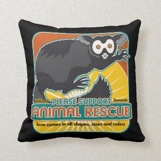 Animal Rescue Lemur Throw Pillow