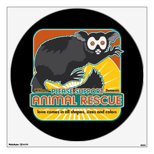 Animal Rescue Lemur Wall Sticker