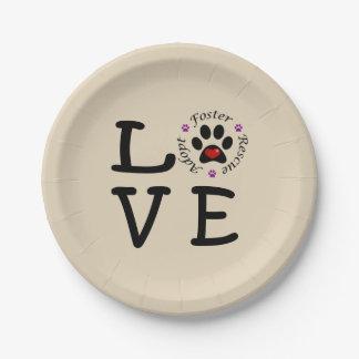Animal Rescue Love Paper Plates