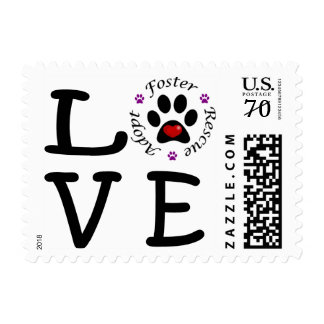 Animal Rescue Love Postage Stamps
