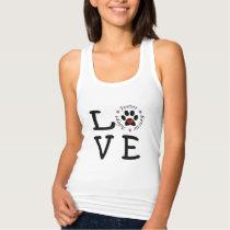 Animal Rescue Love Racerback Tank Top