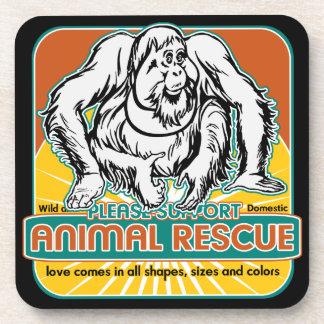 Animal Rescue Orangutan Beverage Coasters