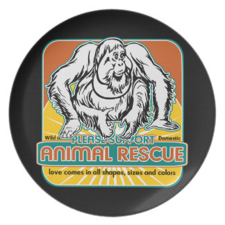 Animal Rescue Orangutan Dinner Plates