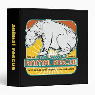 Animal Rescue Polar Bear Vinyl Binders