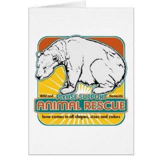 Animal Rescue Polar Bear Card