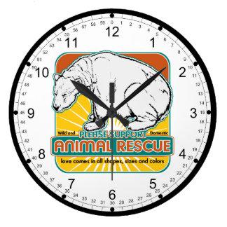 Animal Rescue Polar Bear Round Clocks