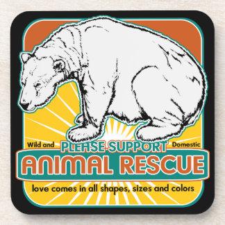 Animal Rescue Polar Bear Drink Coaster