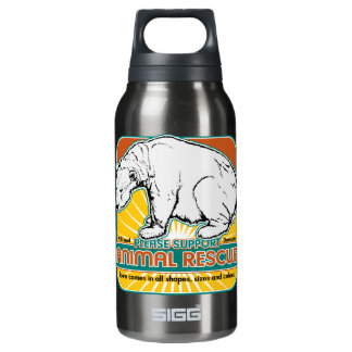 Animal Rescue Polar Bear Insulated Water Bottle