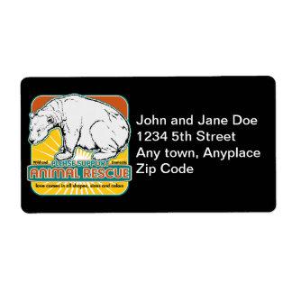 Animal Rescue Polar Bear Shipping Label