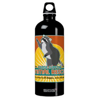 Animal Rescue Raccoon Aluminum Water Bottle