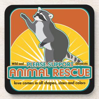 Animal Rescue Raccoon Drink Coasters