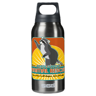 Animal Rescue Raccoon Insulated Water Bottle