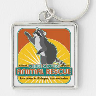 Animal Rescue Raccoon Key Chain