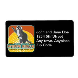 Animal Rescue Raccoon Label