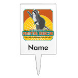 Animal Rescue Raccoon Rectangle Cake Toppers