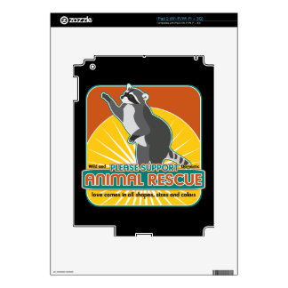Animal Rescue Raccoon iPad 2 Decals