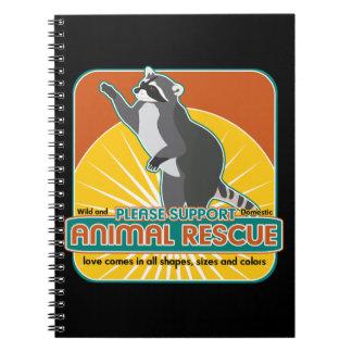 Animal Rescue Raccoon Spiral Notebook