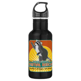 Animal Rescue Raccoon Stainless Steel Water Bottle