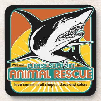 Animal Rescue Shark Coasters