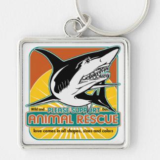 Animal Rescue Shark Key Chain