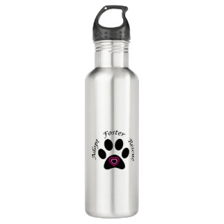 Animal Rescue Stainless Steel Water Bottle