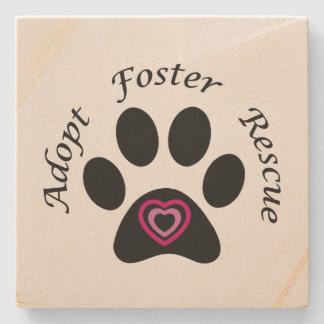 Animal Rescue Stone Beverage Coaster
