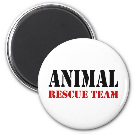 Animal Rescue Team Gift Items 2 Inch Round Magnet