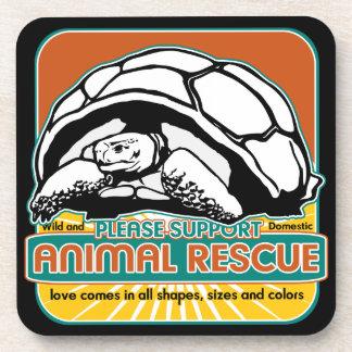 Animal Rescue Turtle Beverage Coasters