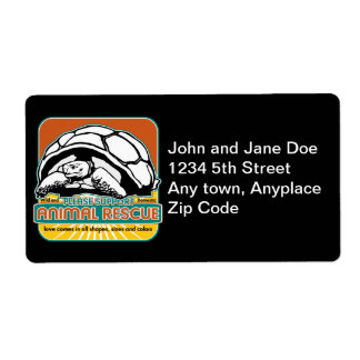 Animal Rescue Turtle Custom Shipping Labels