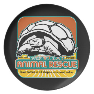 Animal Rescue Turtle Plate