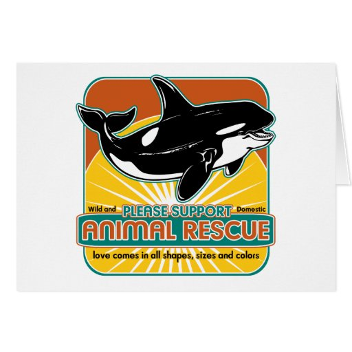 Animal Rescue Whale Greeting Card