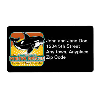 Animal Rescue Whale Custom Shipping Label