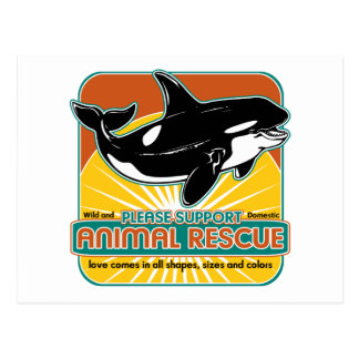 Animal Rescue Whale Postcard