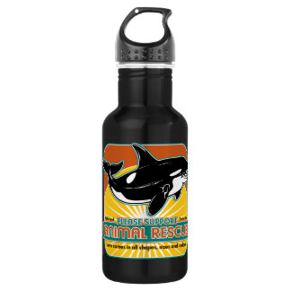 Animal Rescue Whale Water Bottle