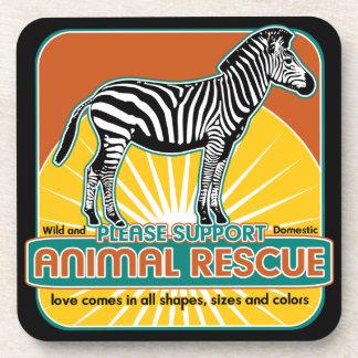 Animal Rescue Zebra Coasters