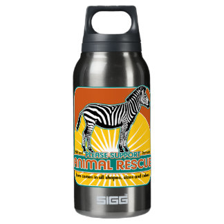 Animal Rescue Zebra Insulated Water Bottle
