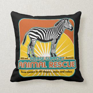 Animal Rescue Zebra Throw Pillow