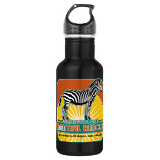 Animal Rescue Zebra Water Bottle