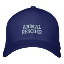 Animal Rescuer Embroidered Cap