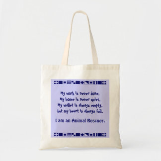 Animal rescuer tote bags