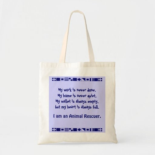 Animal rescuer tote budget tote bag